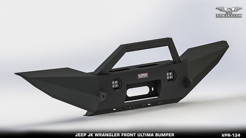 FRONT BUMPER W/OEM FOG LIGHT/WINCH/TABS/STINGER VPR-134