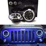 "Halo LED HeadLights 7"" Jeep Wrangler JK TJ 1997 - 2018"