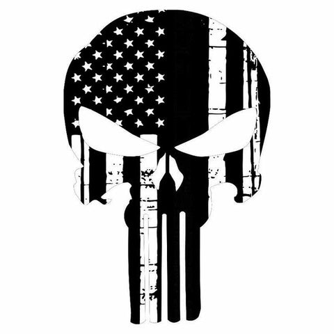 Punisher Black or White Decal 11.6 CM x 17.7 CM