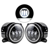 "4""  Fog Light With Halo DRL Lamp Jeep Wrangler JK 2007 - 2017"