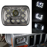 LED Angel Headlights With DRL Jeep Wrangler YJ Cherokee XJ