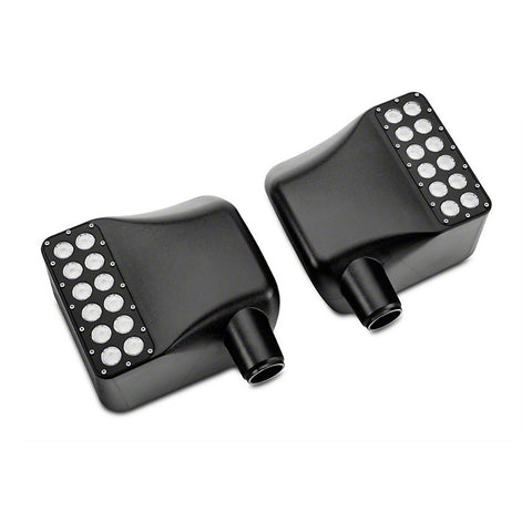 Mirror Covers with White Spot Lights & Amber Turn Signals For 2007 - 2017