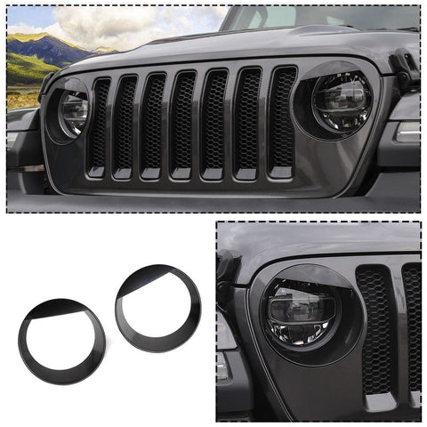Black Headlight Cover Angry Bird Jeep Wrangler JL 2018 - 2019