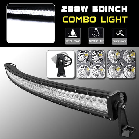 50inch 288w LED Curved Light Bar Offroad