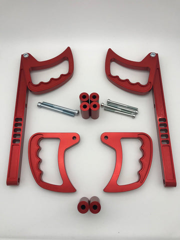 Jeep Wrangler Interior grab handles SET - Red