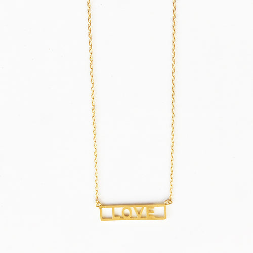 Love Name Plate Necklace