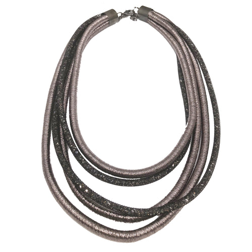 Metallic Multi-Strand Rope Necklace