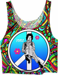 Inspired by Jimi Hendrix, Color - Crop Top