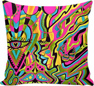 Psychedelic 60's - Couch Pillows