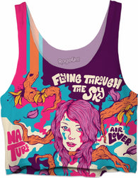 Flying Through The Sky - Crop Top