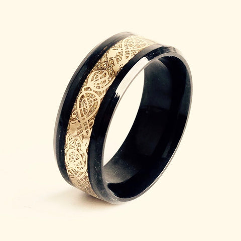 Celtic Dragon Stainless Steel Ring