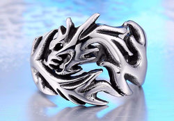 Stainless Steel Mystical Dragon Ring