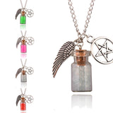 Pentagram Angel Protection Bottle Necklace