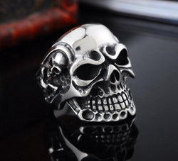 Stainless Steel Viking Skull Ring
