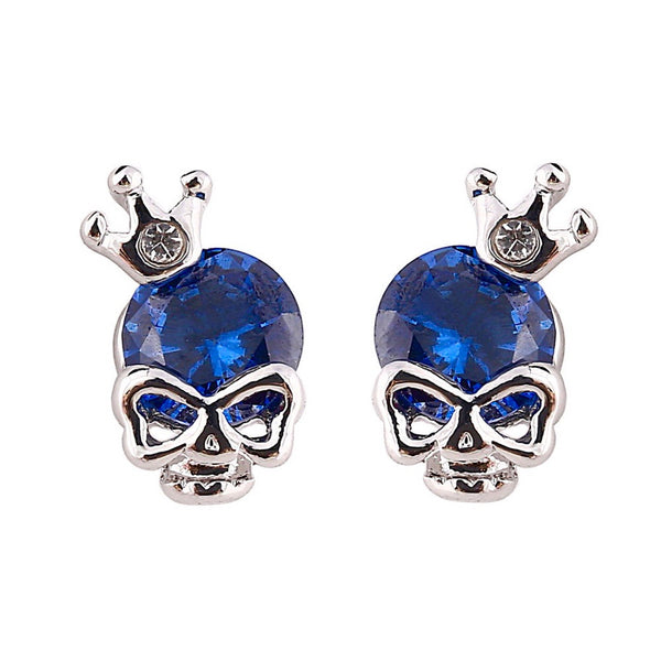 Crowned Skull Punk Earrings