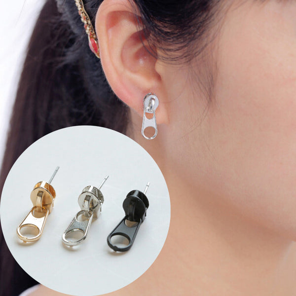 Punk Zipper Earrings