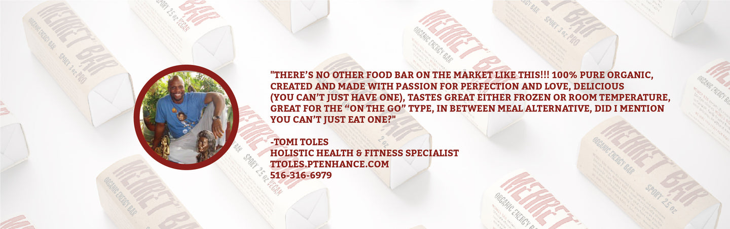 Organic, Hand-made, non-gmo, vegan or grass-fed, high protein, Energy bar