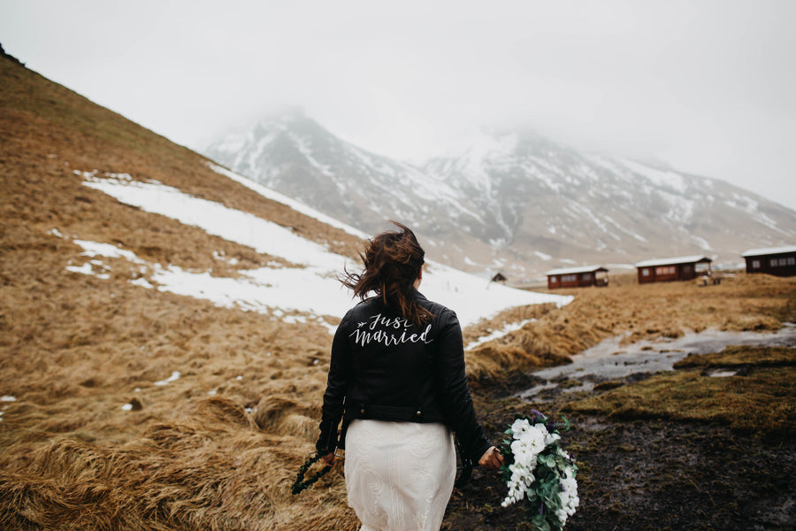 A Scenic Elopement in the Mountains of Iceland ft. #TheJustMarriedJacket
