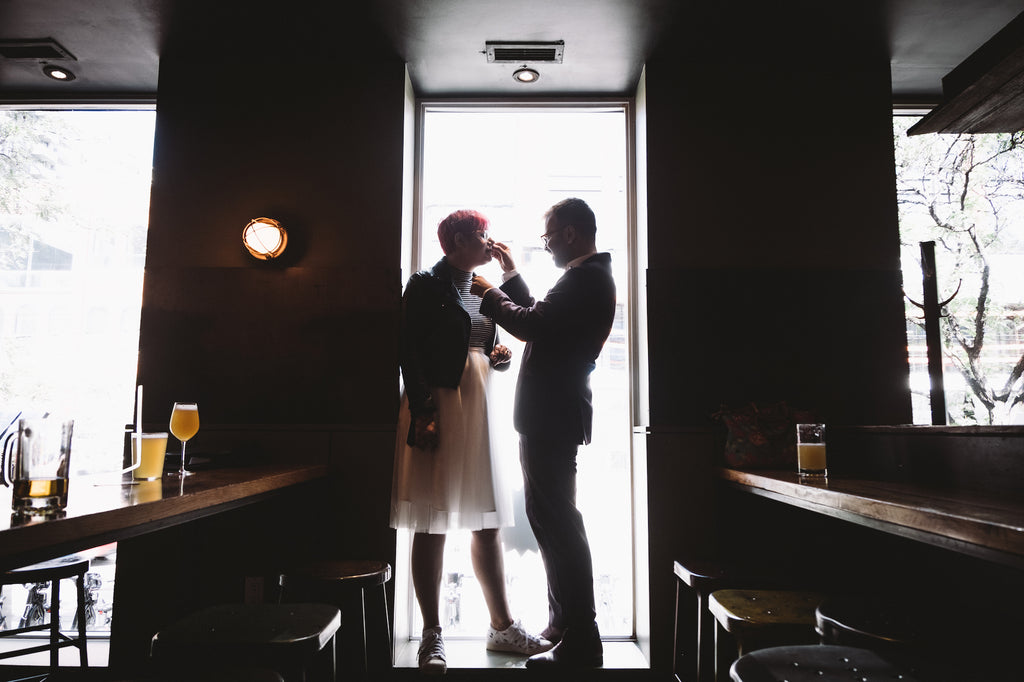 A Toronto couple gets ready for their intimate wedding.