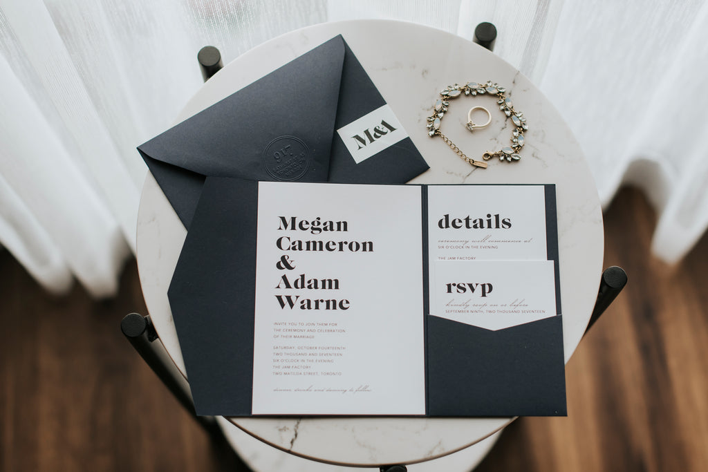 Fox Photography - Megan and Adam - Wedding Invitations