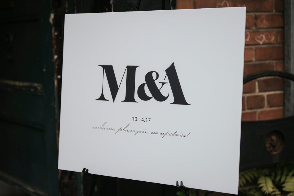 Fox Photography - Megan and Adam - Welcome Sign