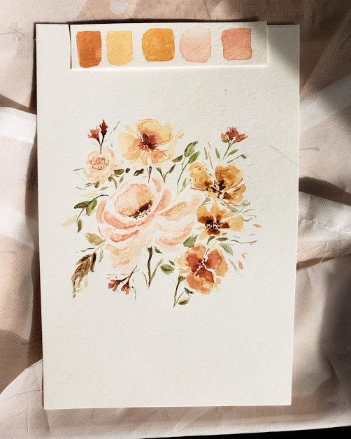Watercolor flowers painted by Magnolia Calligraphy.