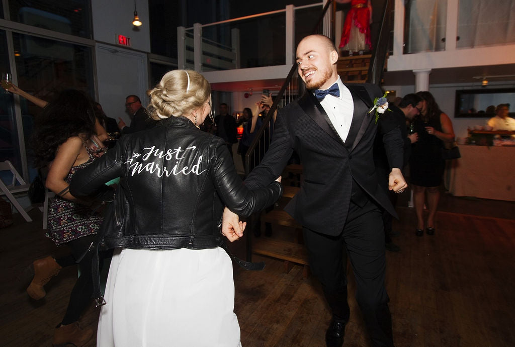A fun and joyful newlywed couple celebrate their big night in this fun Toronto wedding.