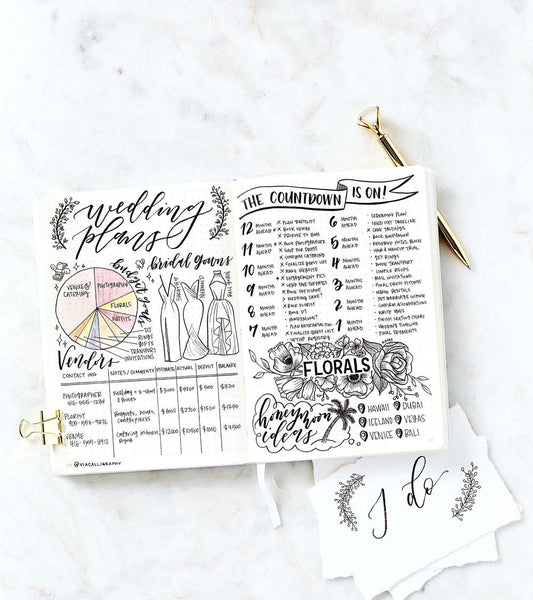 Bullet Journal for Wedding Planning | Via Calligraphy