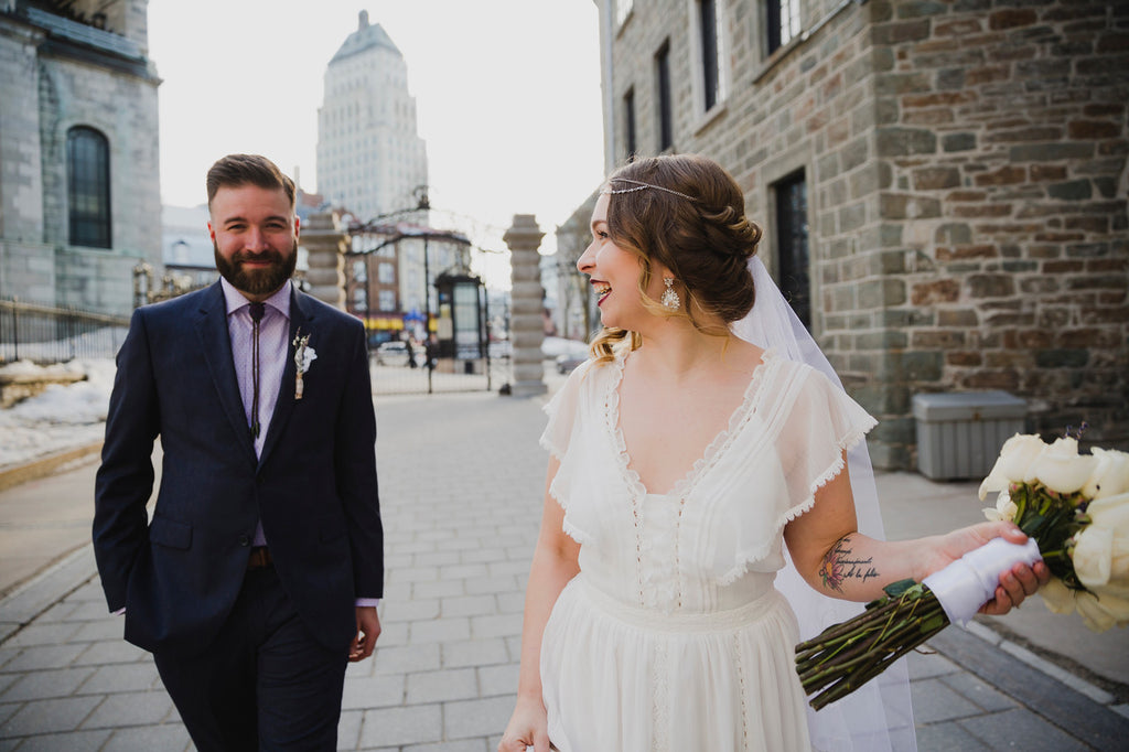 This charming, vintage wedding in Quebec City will have you stunned with pure heart eyes.