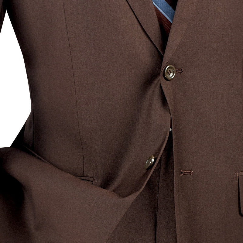 Nola Collection - Regular Fit 2 Piece in Brown - SUITS FOR MENS