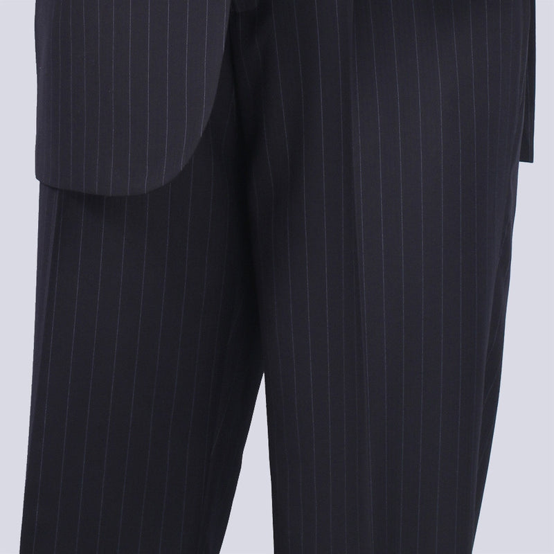 BUSINESS SUITS FOR MEN CLASSIC FIT VINCI SUITS 2 BUTTONS FANCY STRIPE IN NAVY NEW