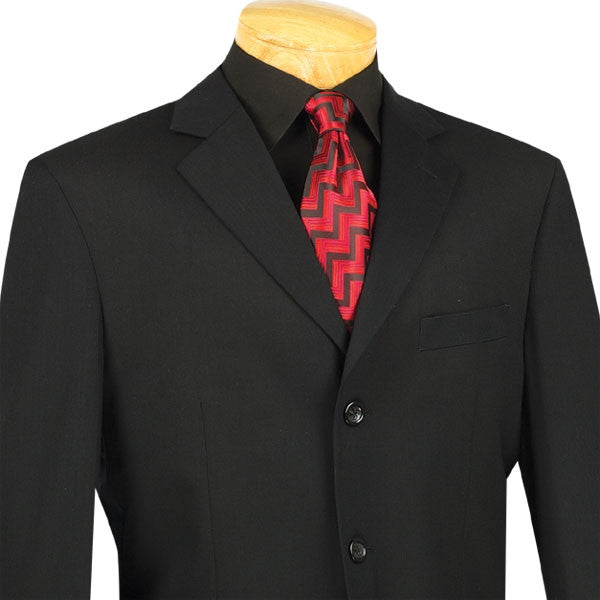 Mont Blanc Collection - Regular Fit Suit 3 Button 2 Piece in Black - SUITS FOR MENS