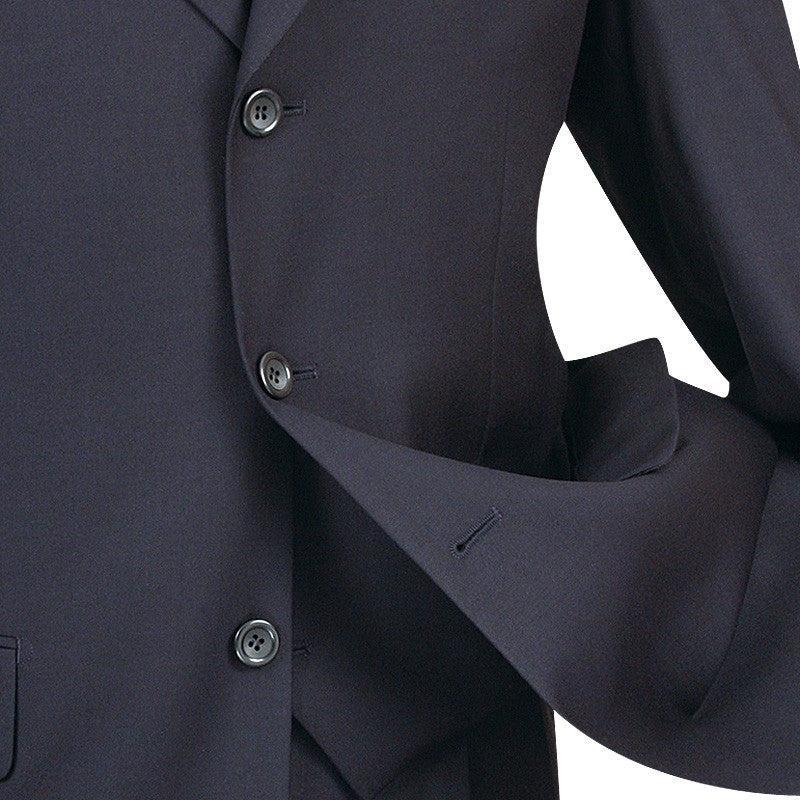 Avalon Collection - Regular Fit Men's Suit 3 Button 3 Piece Navy - SUITS FOR MENS