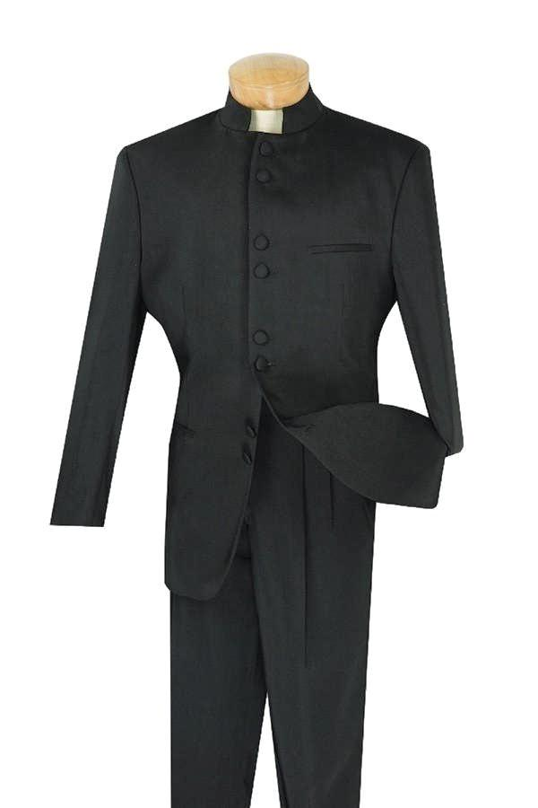 NEW MEN'S TUXEDO CLASSIC FIT COLLECTION IN BLACK 8 BUTTONS TUXEDO DESIGN