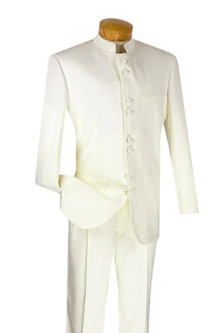 Men's Regular Fit Tuxedo 2 Piece 8 Buttons in Ivory - SUITS FOR MENS