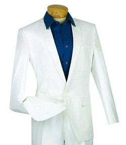 WHITE SLIM FIT SPORT COAT VINCI MENS FASHION JACKET NEW