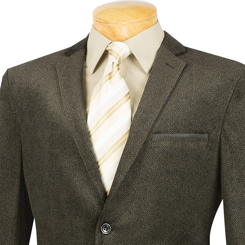 Slim Fit Trimmed Sports Coat in Coffee - SUITS FOR MENS