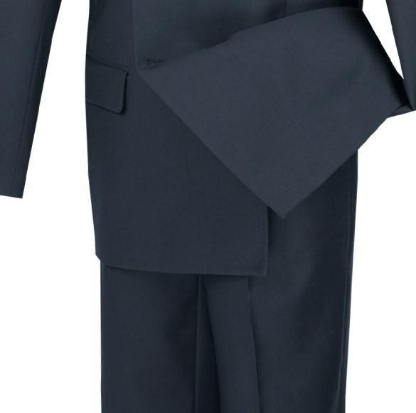 NEW! BUSINESS SUITS DOUBLE BREASTED SUITS MEN'S CLASSIC FIT SUITS SOLID NAVY
