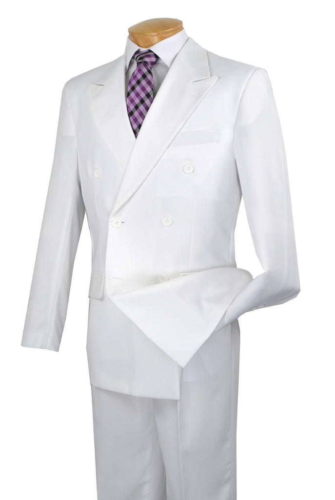 WHITE DOUBLE BREASTED SUITS MEN'S CLASSIC FIT SUITS EVERYDAY SUITS