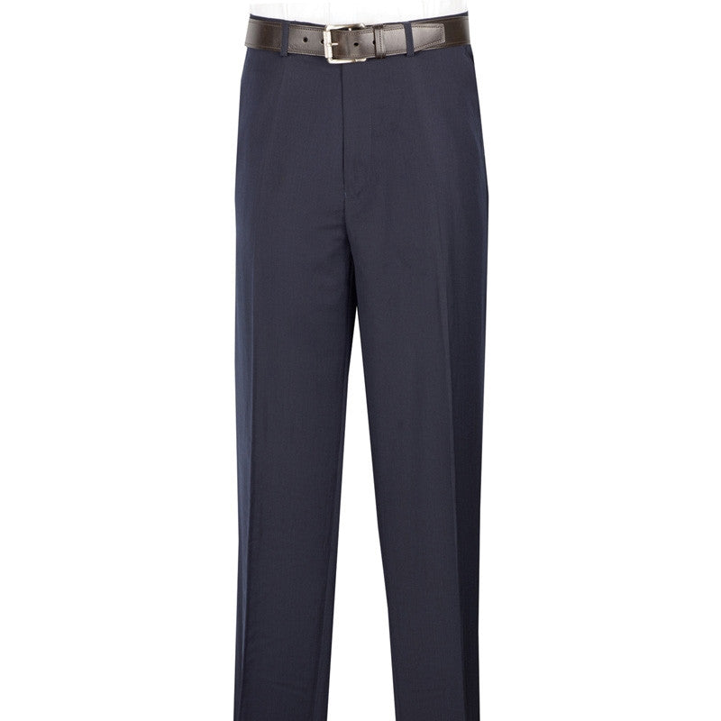 Men's Dress Pants Flat Front Design in Navy - SUITS FOR MENS