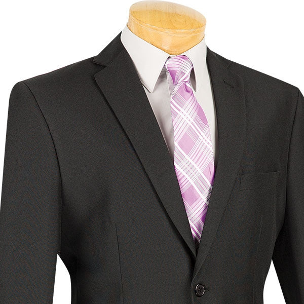 Black Slim Fit Men's 2 Piece Business Suit 2 Button - SUITS FOR MENS