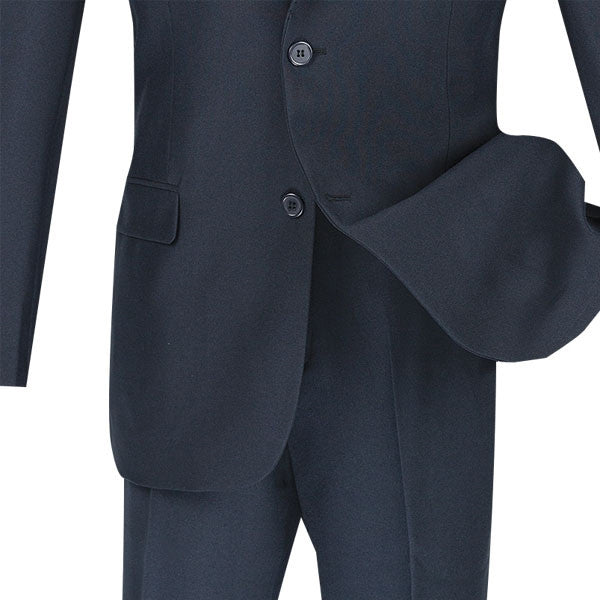 NAVY SLIM FIT MEN'S BUSINESS SUITS TWO BUTTON DESIGN NEW