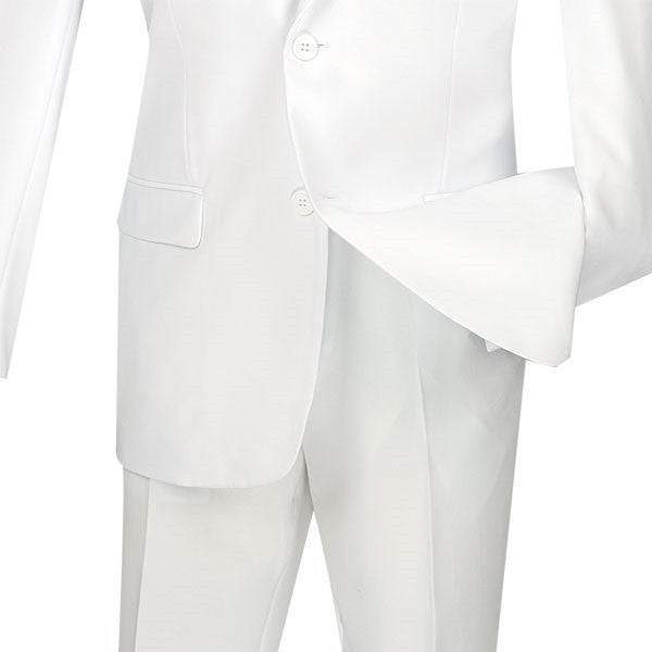 WHITE SLIM FIT MEN'S BUSINESS SUITS TWO BUTTON DESIGN NEW