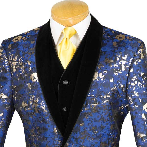 ROYAL MEN'S FASHION SUITS SHAWL LAPEL 3 PCS CLASSIC FIT WITH VEST AND PANTS