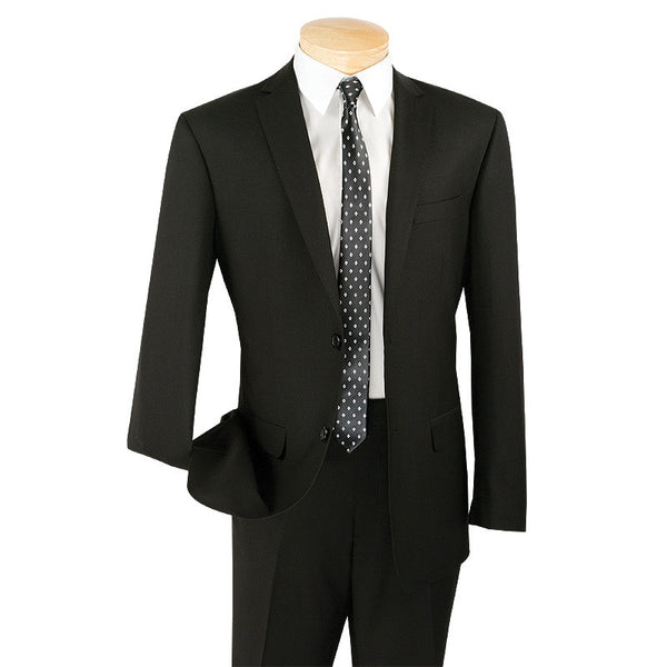 Slim Fit Men's Suit 2 Piece 2 Button in Black - SUITS FOR MENS