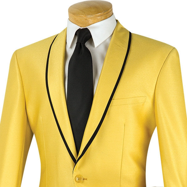 Palazzo Collection - Gold Men's Slim Fit 2 Piece Tuxedo Shawl Lapel - SUITS FOR MENS