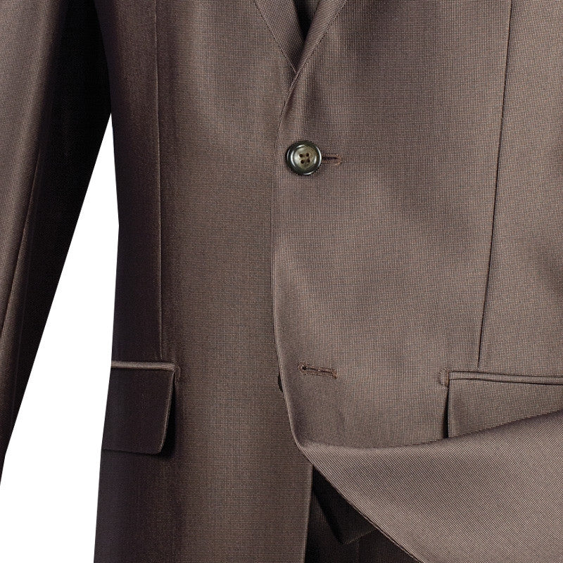 Slim Fit Men's Suit With Vest 3 Piece 2 Buttons in Mocha - SUITS FOR MENS