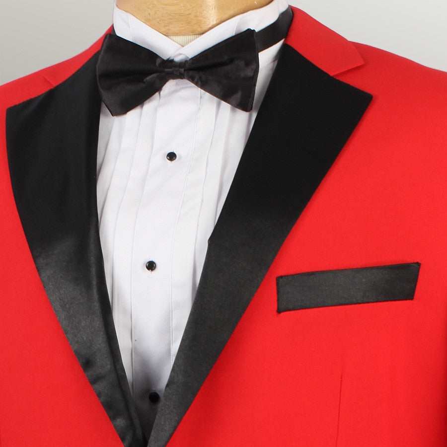 Men\'s Prom Tuxedo Collection With Fancy Lapel In Red 2 Button Design ...