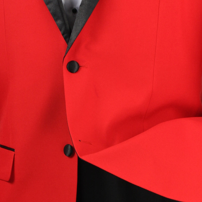 Men's Prom Tuxedo 2 Piece Fancy Lapel In Red 2 Button Design - SUITS FOR MENS