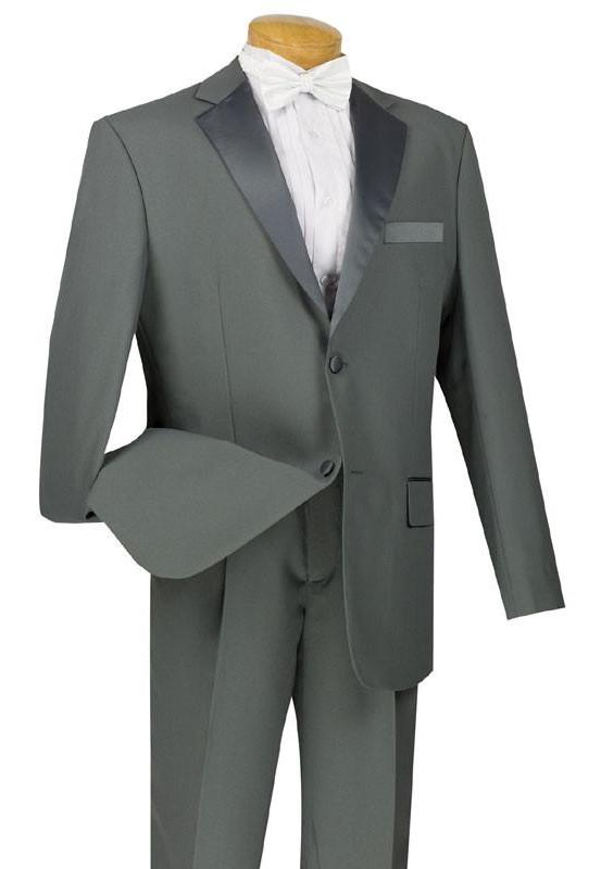 Royale Collection - Regular Fit 2 Piece Tuxedo in Gray - SUITS FOR MENS